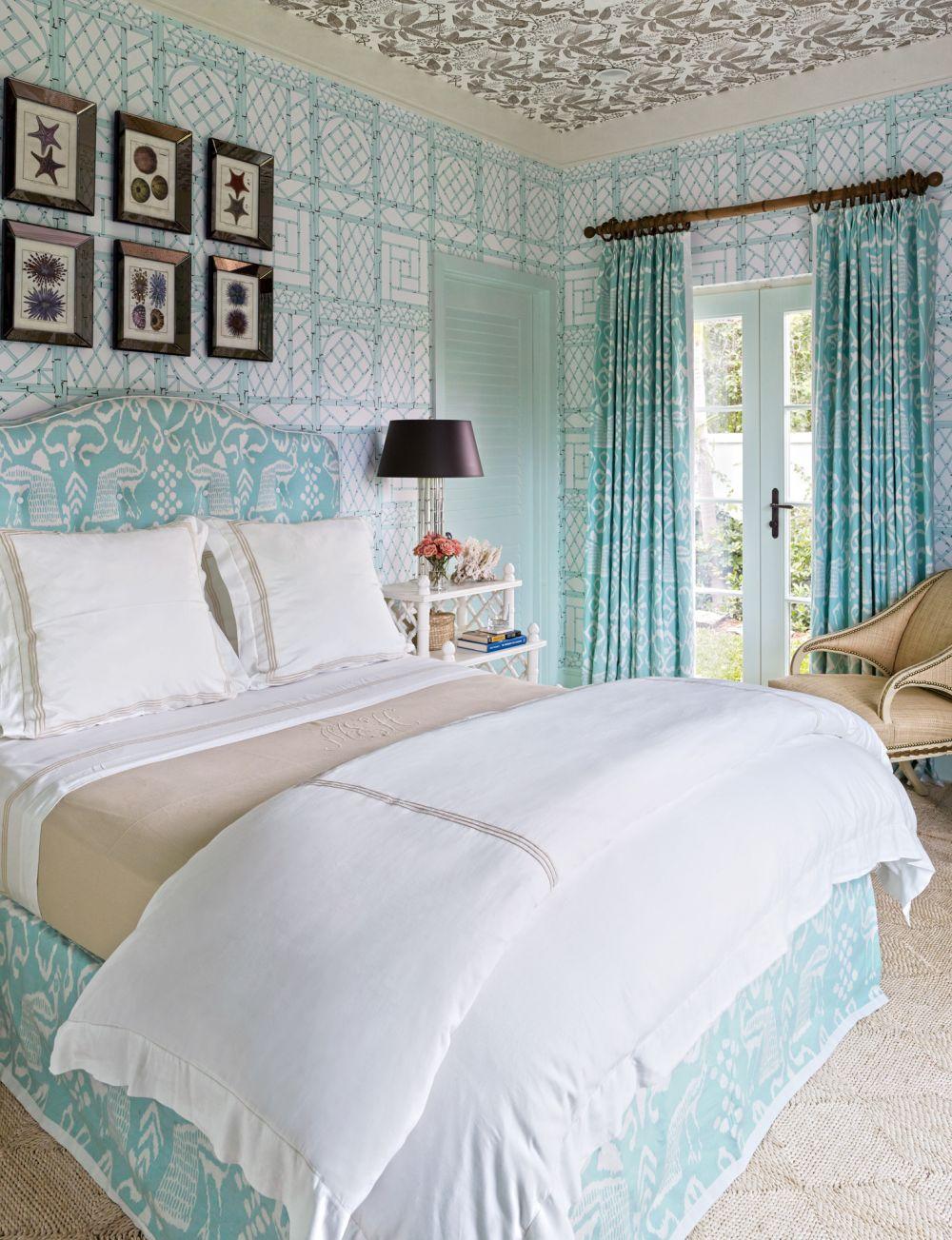 #Schlafzimmer 2018 21 Schöne Sammlung Von Bunten Blauen Schlafzimmer  Interieur #Dekoration Ideen #