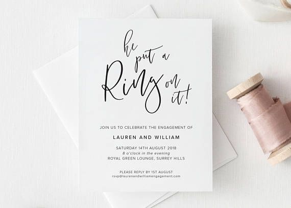 20 Engagement Party Invitations