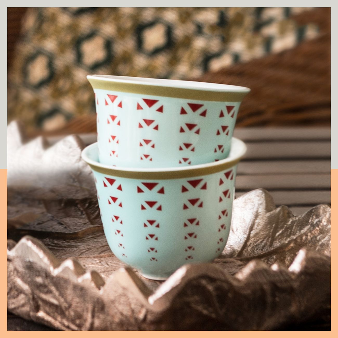 A sip of arabic coffee with ashkaal enjoy a fabulous