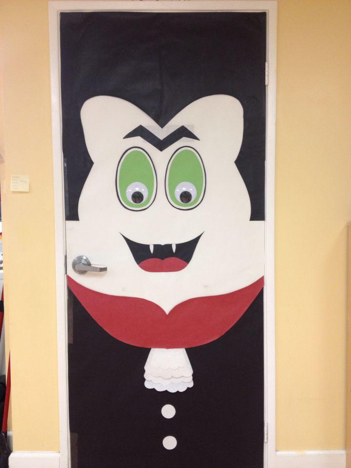 halloween door decorating ideas for teachers. Halloween Dracula Door Decor Decorating Ideas For Teachers