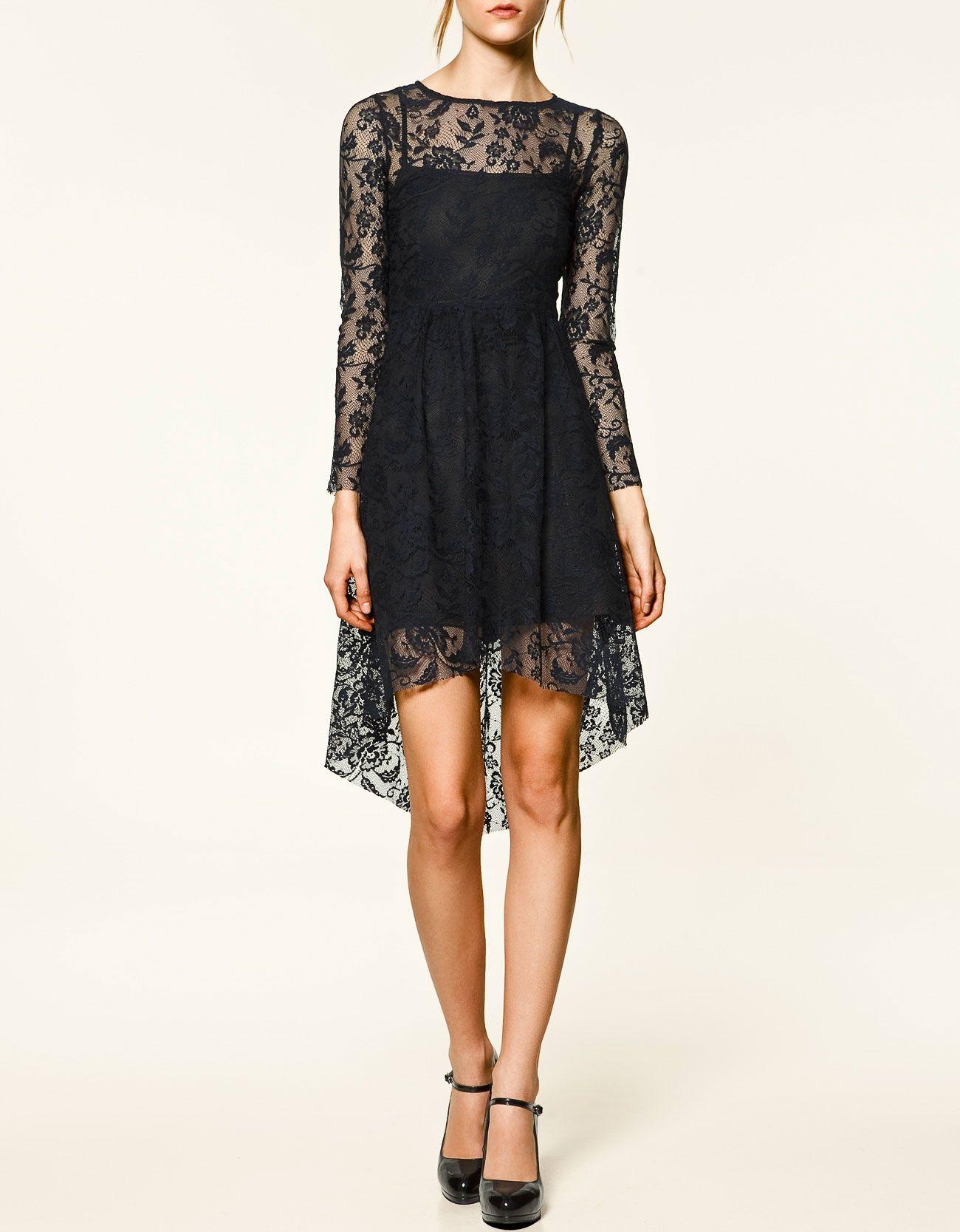White lace dress zara  So pretty and chic and ladylike  My Style  Pinterest  Lace dress