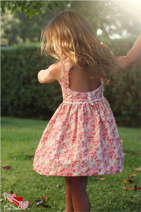 2beb546df9471 Charlotte Dress & Top, PDF Sewing Pattern, girls dress pdf, cutout dress  pattern, baby sewing patter