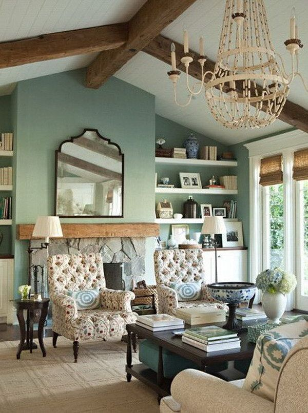 Merveilleux Seafoam Green Living Room.