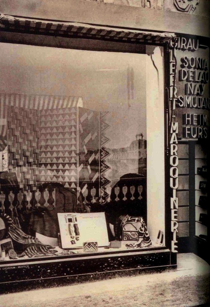 Sonia Delaunay window display Shopwindows Pinterest Sonia