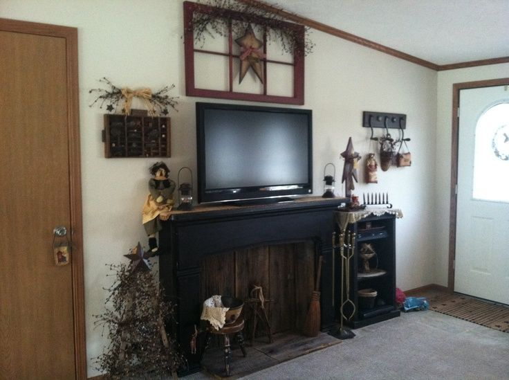 Country primitive faux fireplaces old fireplace mantel primitive country primitive faux fireplaces old fireplace mantel primitive decorating ideas teraionfo