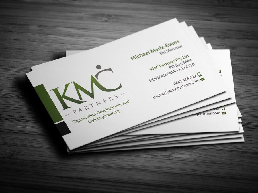 freelance KMC Partners Business Card Design by deuc3s | Business ...