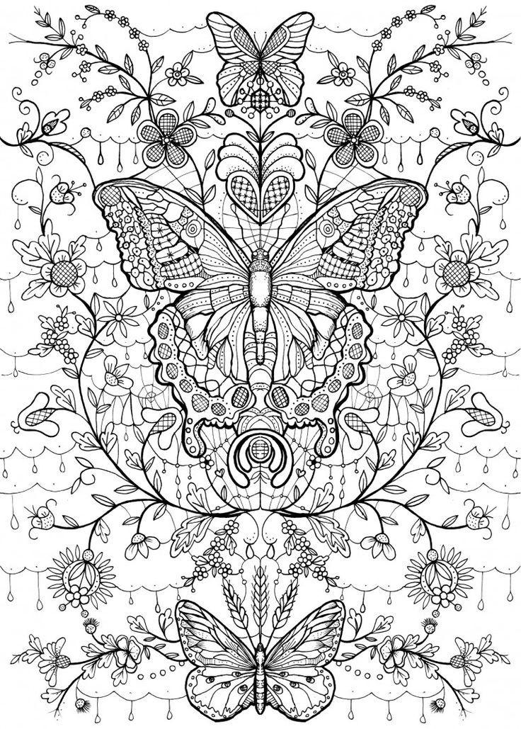 kolorowanki dla dorosłych    Design Kids is part of Butterfly coloring page - kolorowanki dla dorosłych