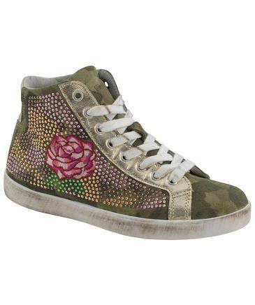 Damen Sneaker #cafenoir #sneakerlove #flowers