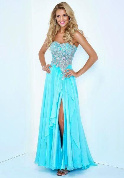 fc6d1c4e6 Preciosos Vestidos de Fiesta Largos de color Celeste