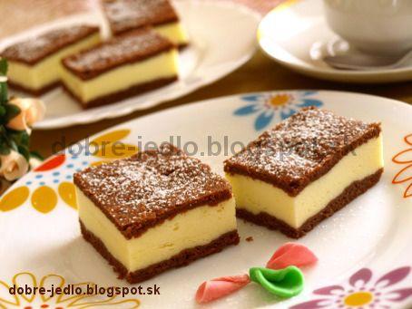 Kakaovo-tvarohové rezy - recepty