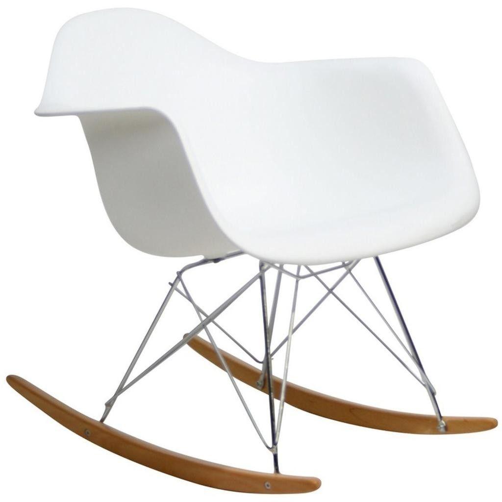 sillon eames plastic rocking chair rar mecedora pvc blanco 230000 en mercadolibre