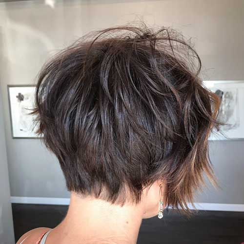 Back View Of Short Layered Haircuts The Undercut Short Layered Haircuts Layered Haircuts Thick Hair Styles