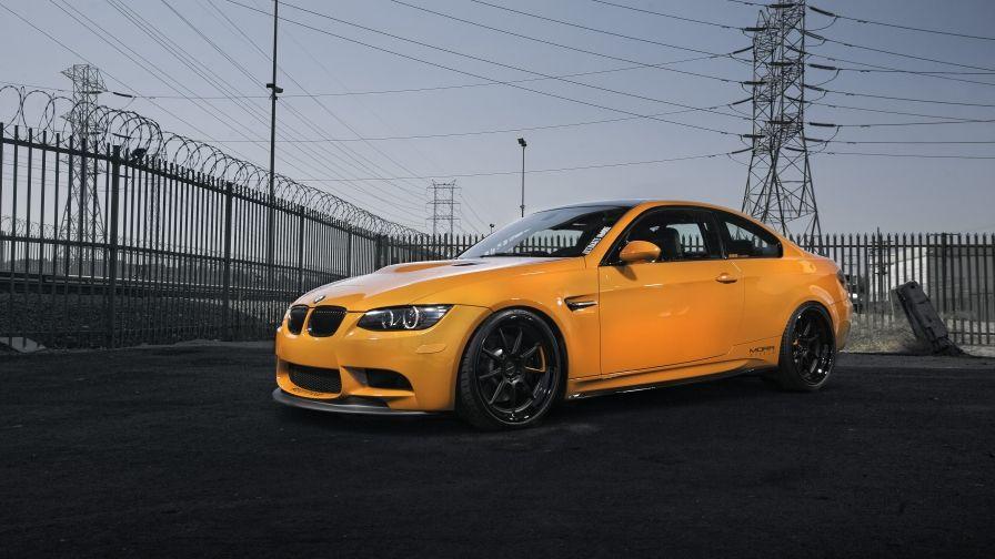Bmw M3 E92 Yellow Sports Car Wallpaper Hd Free Download