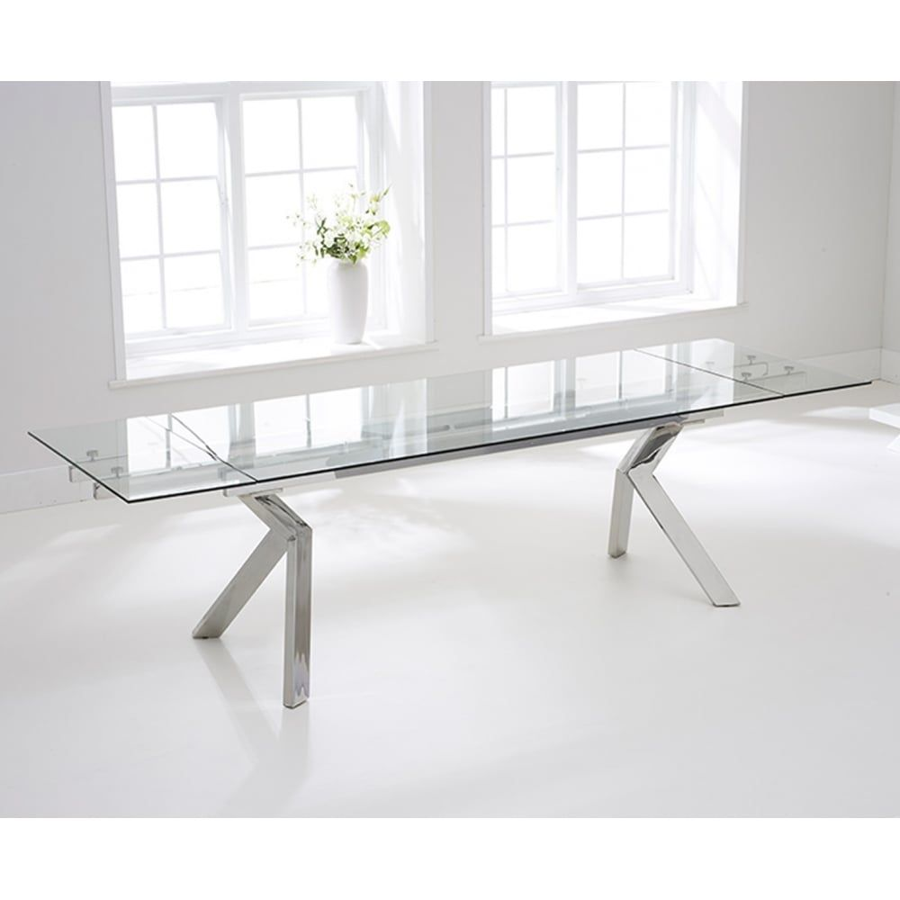 Mark Harris Palazzo 200cm Glass Extending Dining Table Create A