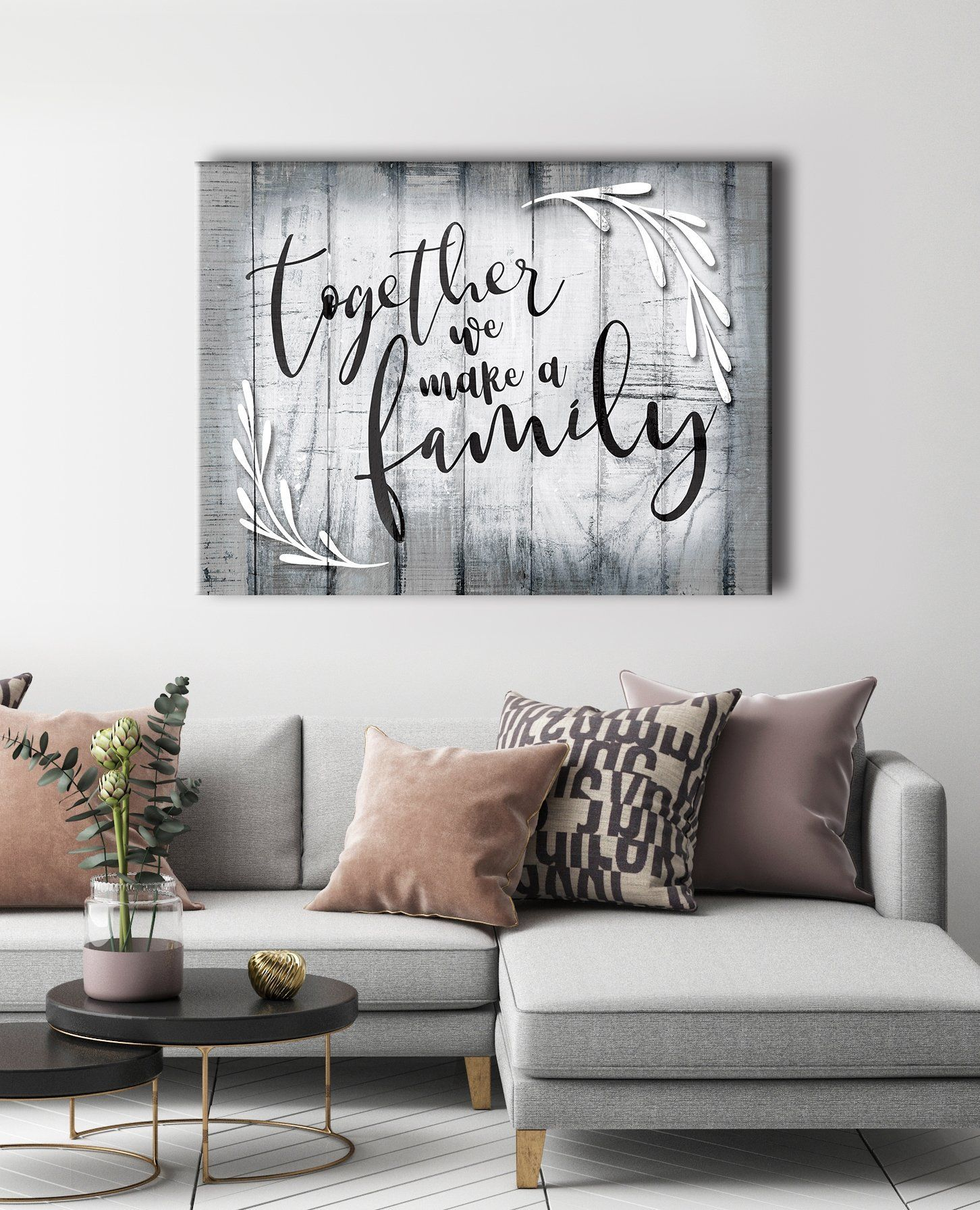 Family Wall Art Together We Make A Family Wood Frame Ready To Hang A Art Family Frame Hang Make Ready In 2020 Family Wall Art Family Wall Decor Family Wall