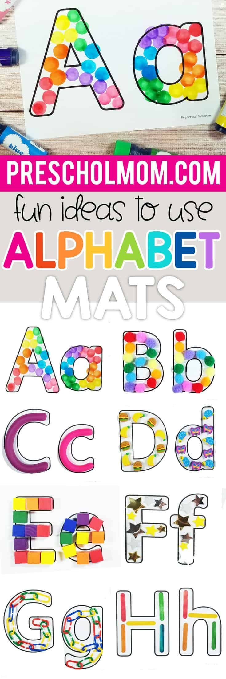 Free Blank Letter Mats - Alphabet activities preschool, Alphabet preschool, Early learning activities, Lettering alphabet, Lettering, Letter activities - These free blank alphabet letter mats make look simple, but they are filled with possibility for your preschool classroom! Blank ABC letters can be filled with a variety of different small items