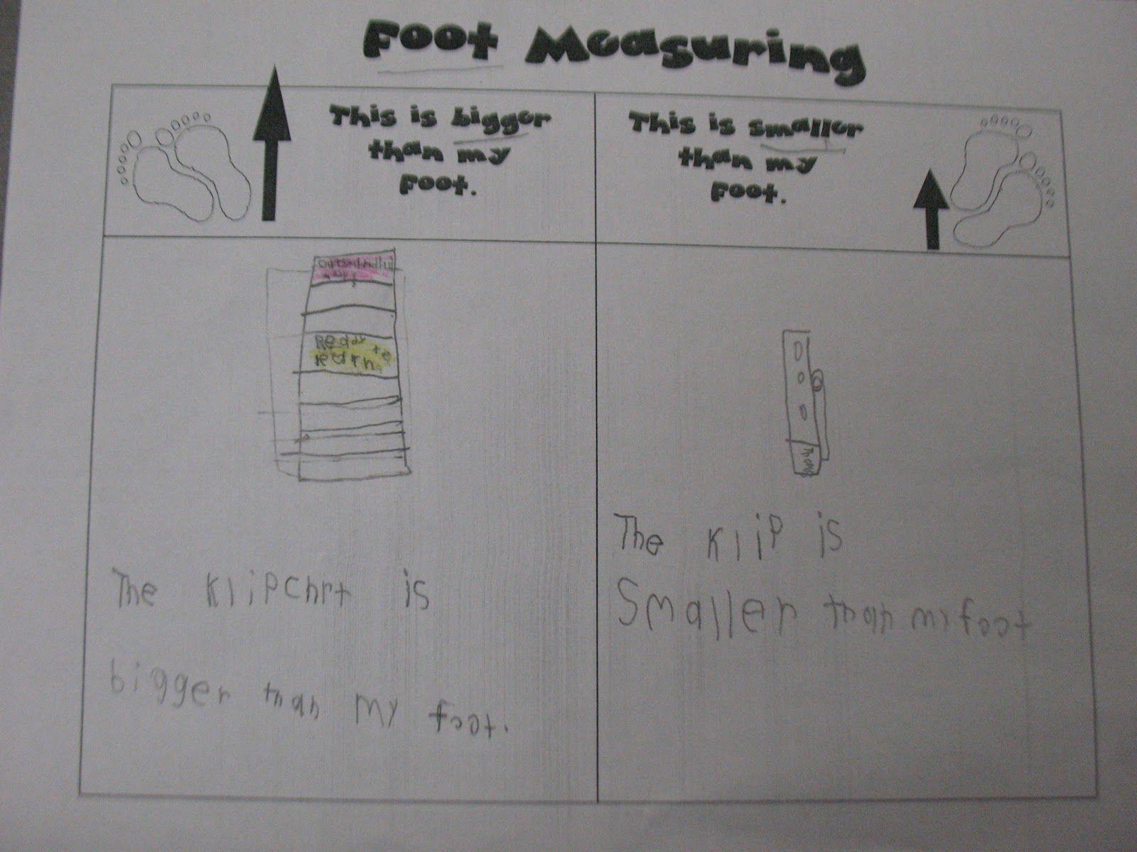 Mrs Morrow S Kindergarten Measuring
