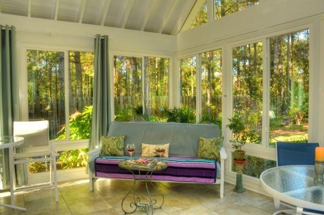 wintergarten verglaste veranda sitzecke schmiedeeisen - wintergarten als wohnzimmer