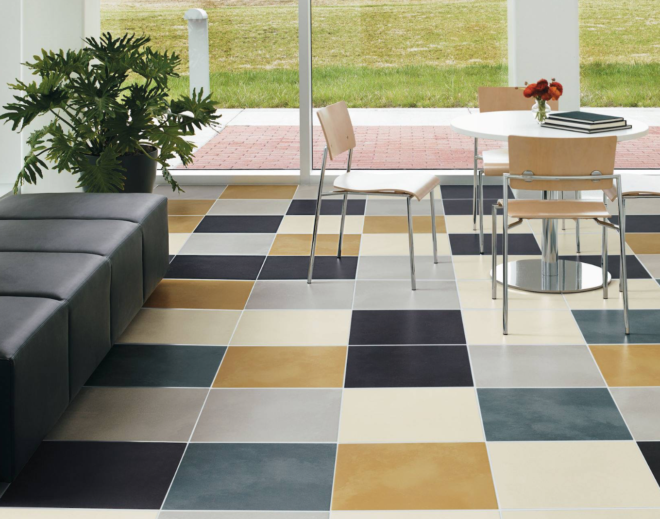 Fridaysfloor Created Using Advanced Color Matching Theories Our Color Blox Collection Is Pla Backyard Landscaping Designs Best Floor Tiles Crossville Tile