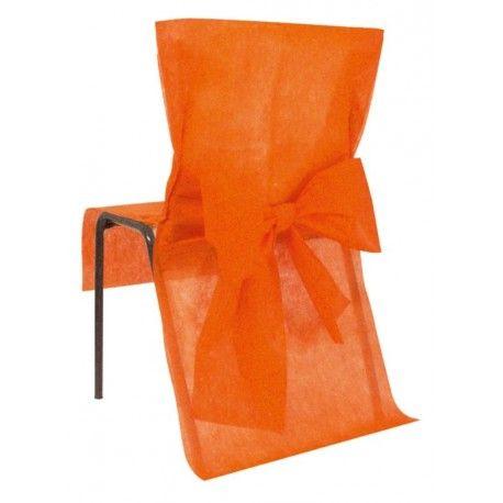 Housse De Chaise Intisse Orange Et Noeud 10 Housses De Chaise Orange Mariage Fete Housse De Chaise Housse De Chaise Mariage Noeud De Chaise