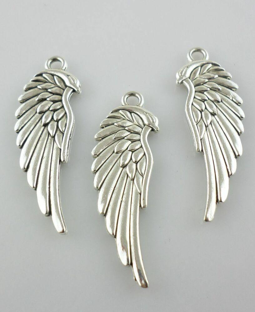 40 Hollow Bird Tibetan Silver Charms Pendants Jewelry Making Findings