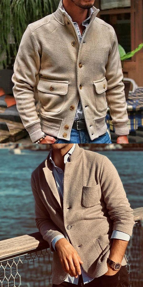 Photo of Fashion Long Sleeve Flap Pocket Jacket