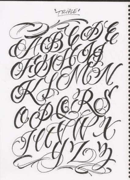 69+ Trendy Ideas Tattoo Fonts Cursive Alphabet Style