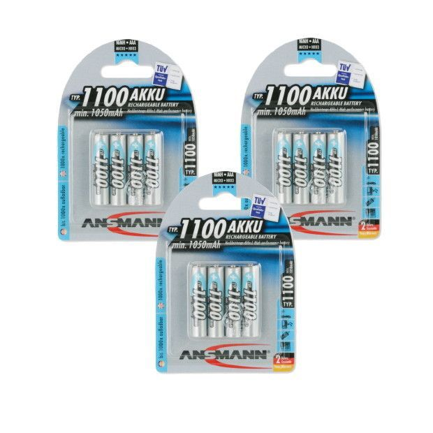 Ansmann AAA 1100 mah 3 Pack Bundle