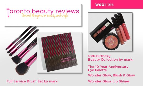 Elaine at Toronto Beauty Reviews raves about our mark.10th anniversary brush set and makeup collection.