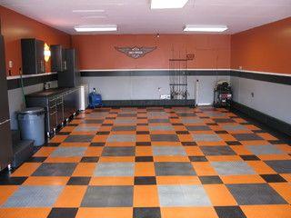Harley Davidson Garage Eclectic Garage And Shed