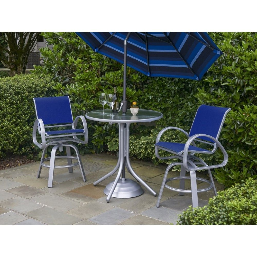 Telescope Casual Aruba Ii Sling Balcony Set Outdoor Furniture Sets Furniture Outdoor Decor