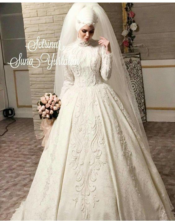Pin von düğün moda evi auf tesettür gelinlikler   Pinterest