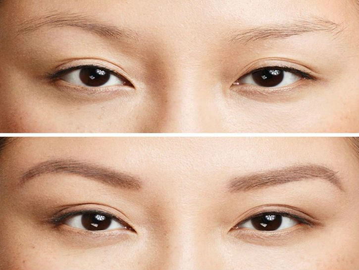 how to remove eyebrow tint from skin