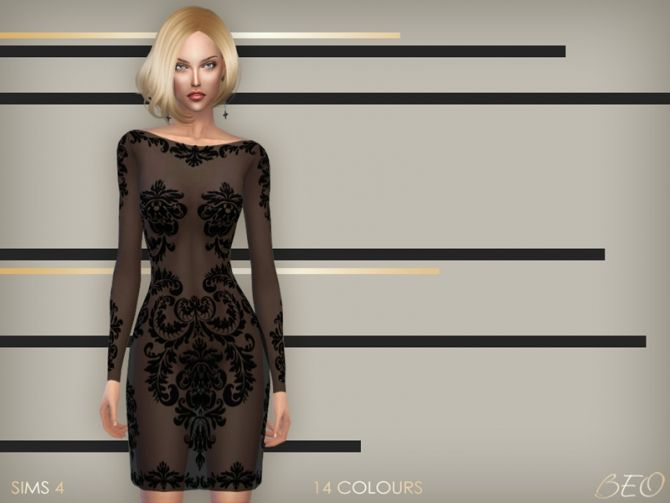 Anveay dress 02 at BEO Creations via Sims 4 Updates