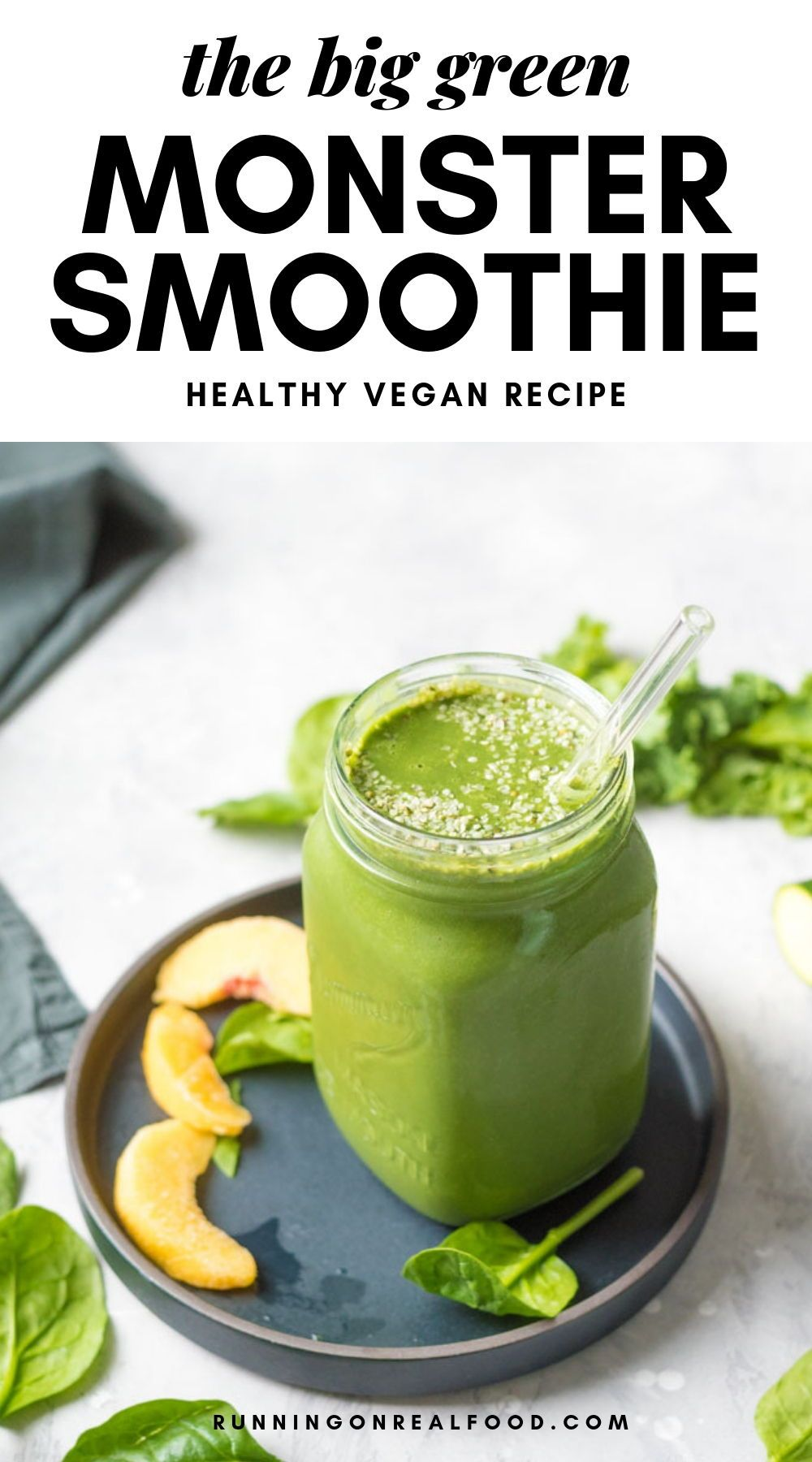 Green Monster Smoothie Recipe Running On Real Food Recipe Green Monster Smoothie Detox Drinks Recipes Natural Detox Drinks