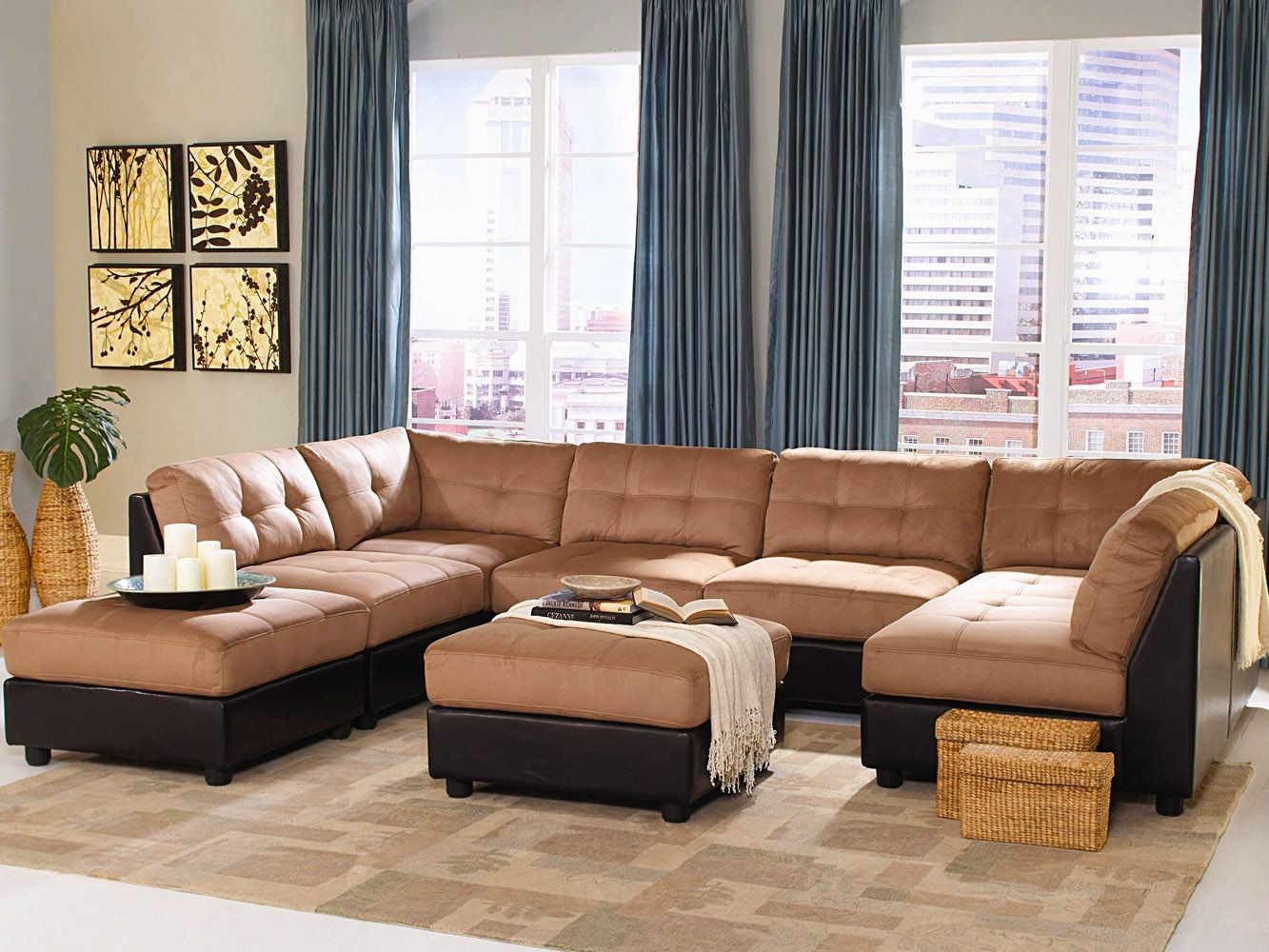 Couches Leather Furniture Living Room Contemporary Style interior ideas