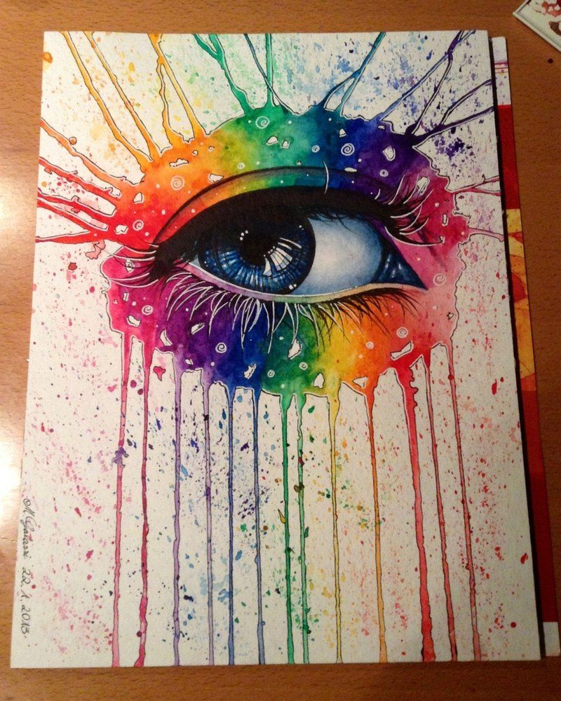 Rainbow Eye By Deadoceans On Deviantart Rainbow Drawing Eye Art Colorful Drawings