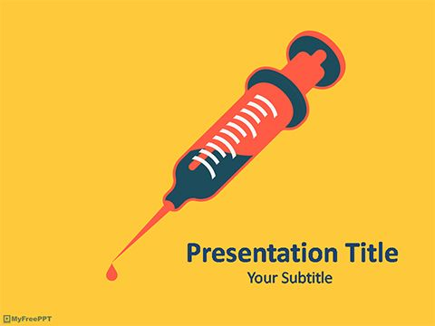 Syringe Powerpoint Template  Medical Template