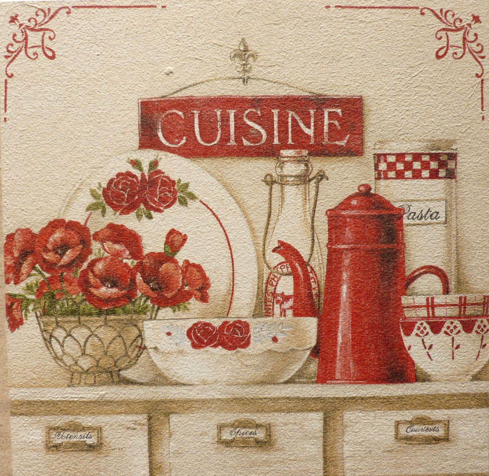 Cuisine Dresser Flower Pot Kitchen Chic Vintage Shabby