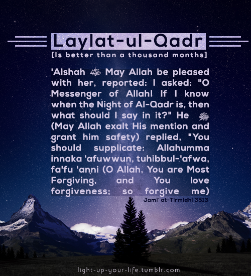 light-up-your-life: Laylatul-Qadr is the most blessed night ...