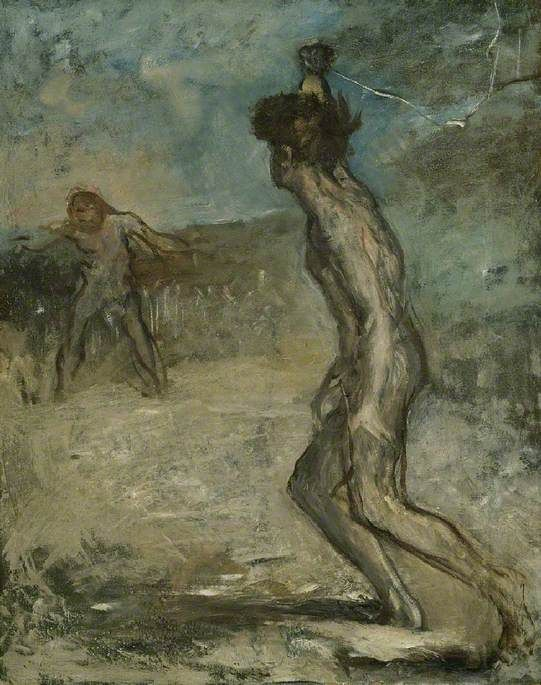 Edgar DEGAS. David and Goliath [oil on canvas], circa 1857.