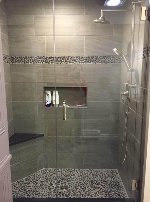 45 Best Shower Tile Ideas To Personalize Your Bathroom Big Sur Sauna Stone Flooring And Runn Bathroom Remodel Master Bathrooms Remodel Bathroom Remodel Shower
