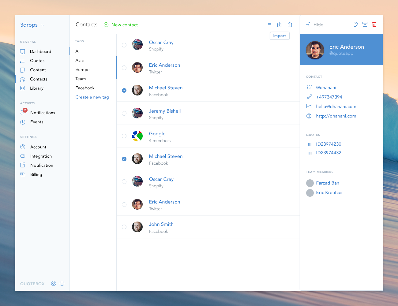 Contacts-details | Interface | Pinterest | Ui ux, Ui design and ...
