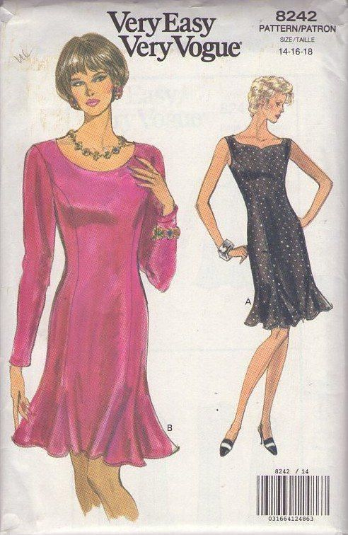 MOMSPatterns Vintage Sewing Patterns - Vogue 8242 Retro 80\'s Sewing ...