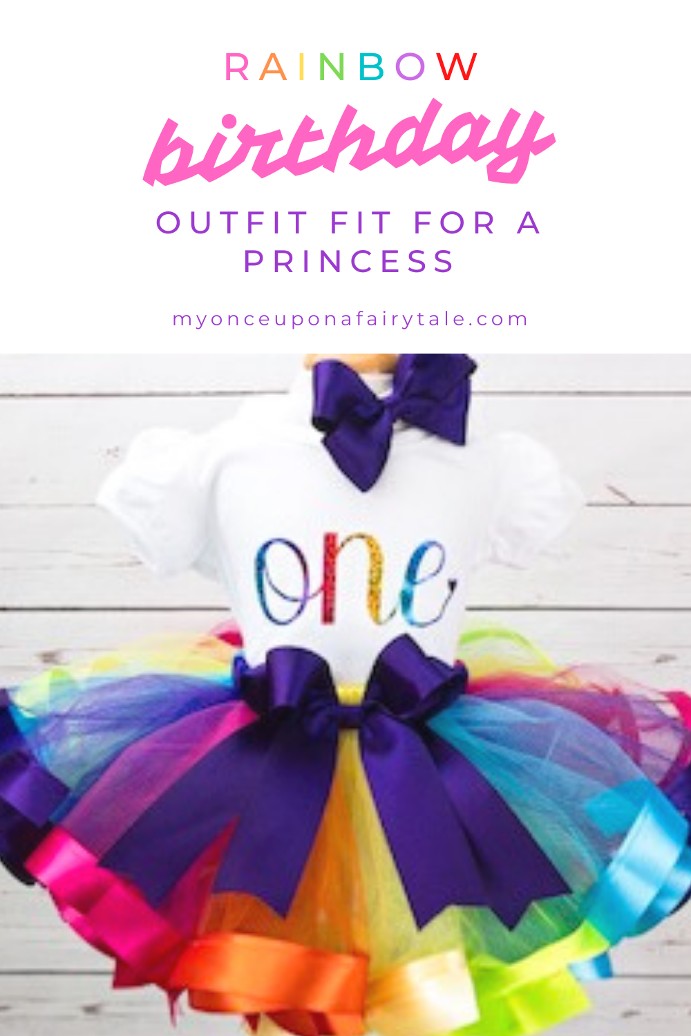 Photo of Rainbow 1st Birthday Party Outfit – Baby Girl Ribbon Trim Tutu – Cake Smash Outfit – Rainbow Princes
