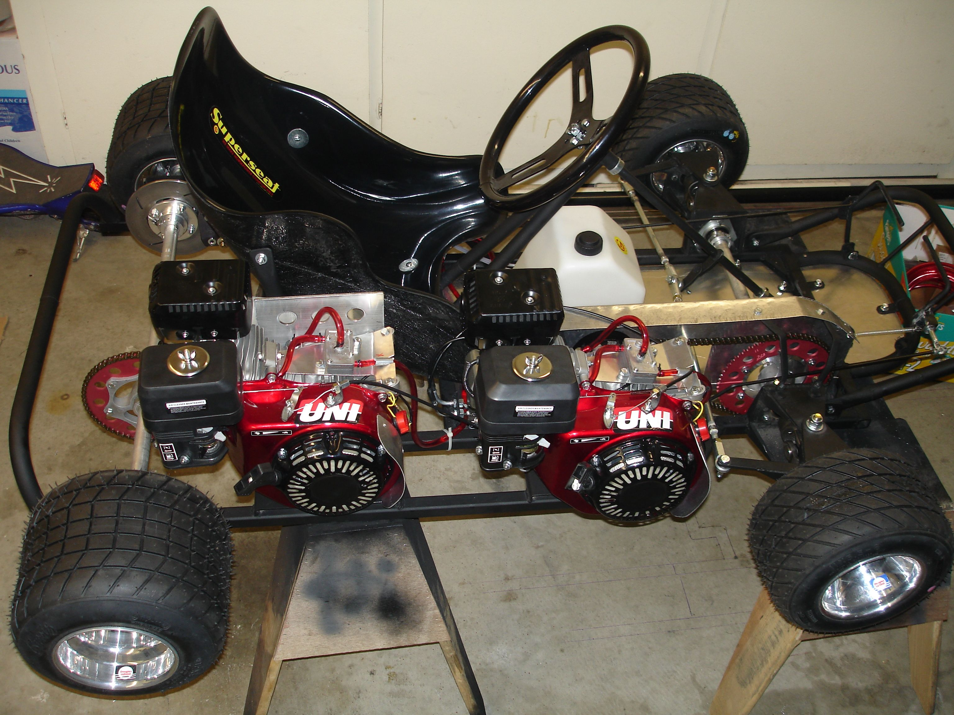 Twin engine AWD go kart  | Awesome Mechanical Shit! | Go