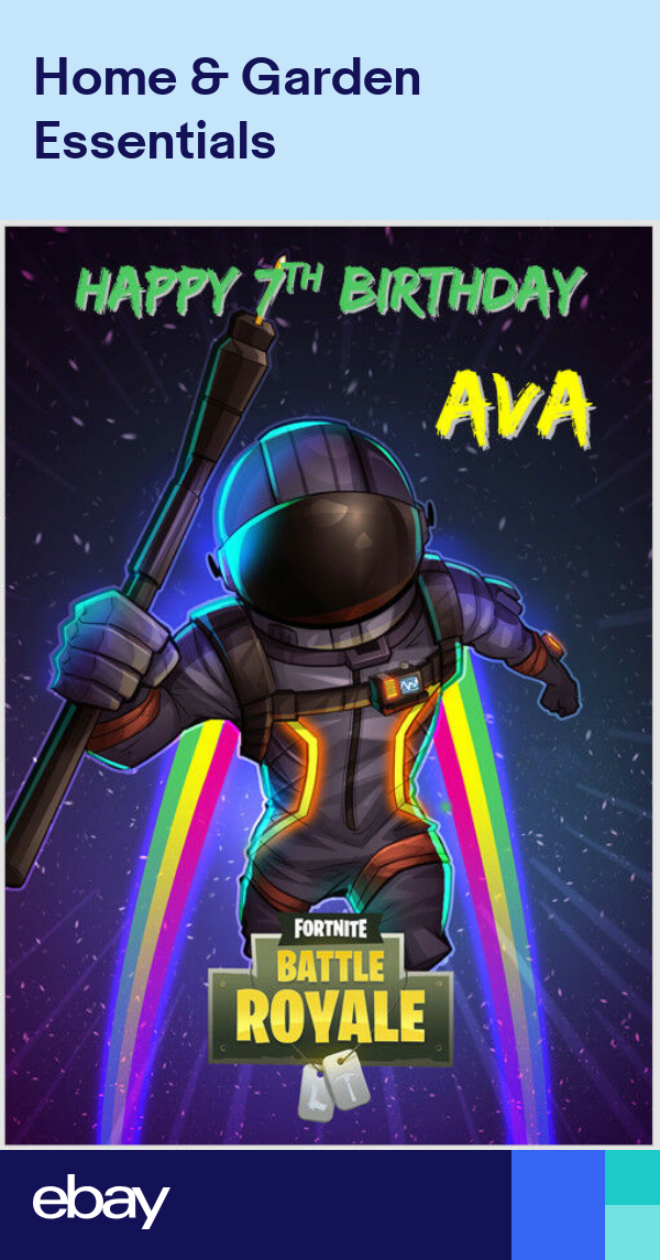 Fortnite Battle Royale Game Xbox Ps4 Playstation Birthday Card A5 Personalised Battle Royale Game Gaming Wallpapers Game Wallpaper Iphone