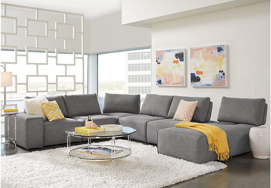 Enjoyable Laney Park Dark Gray 7 Pc Sectional In 2019 Sofa Living Uwap Interior Chair Design Uwaporg
