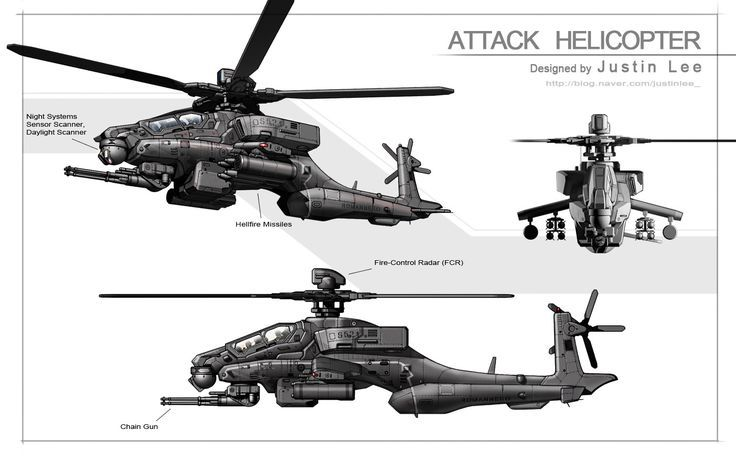 scifi helicopter art