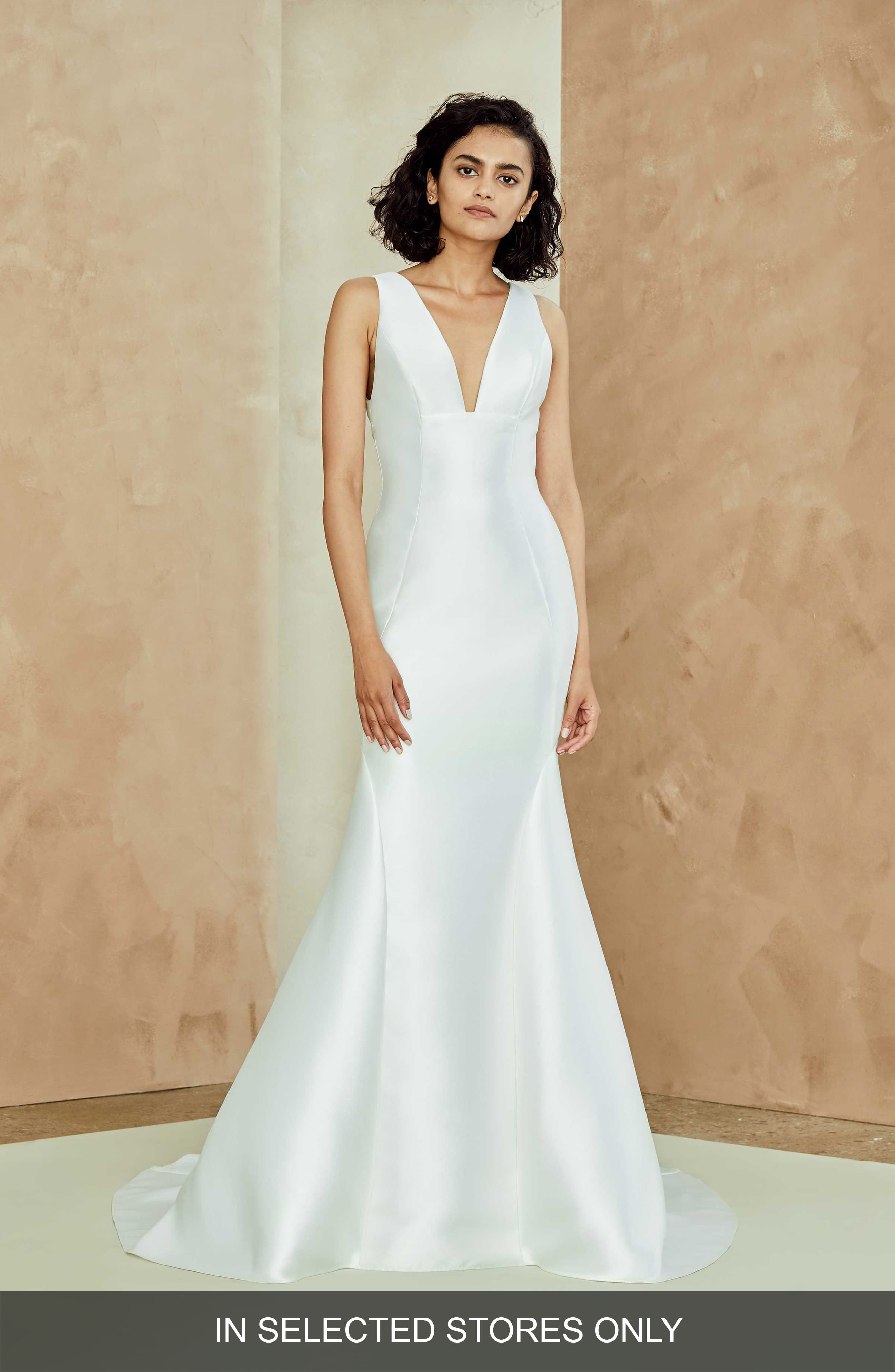 Nouvelle Amsale Lydia Mikado Trumpet Gown Fit Flare Wedding
